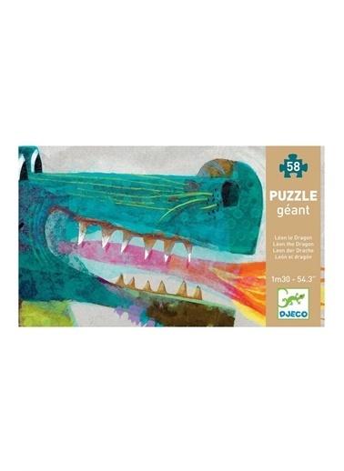Djeco Djeco Dev Puzzle 58 Parça/ Leon The Dragon Pembe